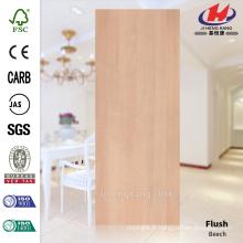 JHK-F01 Ligne rectangulaire élégante Lisse naturelle Feuille de bois HDF Doorskin