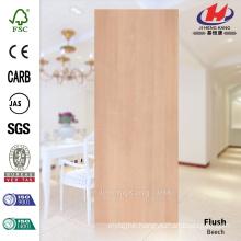 JHK-F01 Elegant Straight Line Smooth Natural Veneer Beech Wood HDF Doorskin