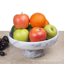 "10"" x 10"" Marble Fruit Bowl on Pedestal"
