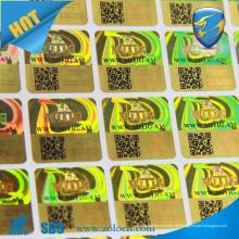 Etiquetas engomadas de la aduana 3d del holograma auténtico / etiqueta del holograma del código de QR / etiqueta holographic de la seguridad
