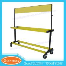 подвижная напольная желтая металлическая шина Rack стенд