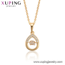 44930 Xuping hot sale gold plated popular fashion dancing stone necklace