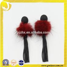 Venta directa de la fábrica Handmade Red Feather Tassel