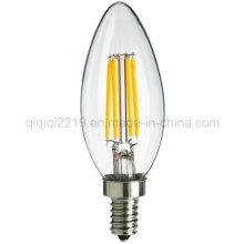 Bulbo do filamento do diodo emissor de luz da vela 35mm da ponta 3.5W