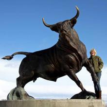 открытый сад декор металл ремесла бронза бык скульптура