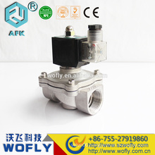 stainless steel 12VDC 1.6Mpa DN25 liquid gas solenoid valve