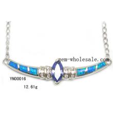 Opal-moda joias de prata Joias (YN00016)