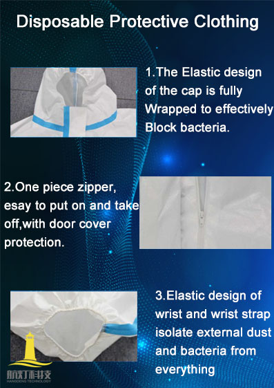disposable protective clothing..
