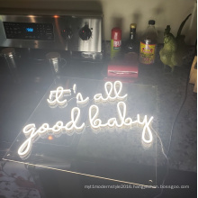 It's all good baby neon sign wedding decorations