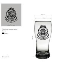 Copo de uísque Copa de vidro para cerveja ou copo de cerveja bebendo Kb-Hn03589