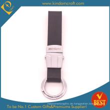 Spezielle Design-maßgeschneiderte hochwertige Echtleder Schlüsselanhänger mit Laser-Logo