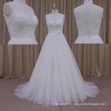 Изготовленный На Заказ Размер Cap Рукавом Старинные Кружева Свадебное Платье