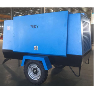 Energy Conservation Electric Movable Screw Air Compressor