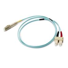 Cordón de remiendo óptico de 10GB Sc / LC 50 / 125um Om3 Duplex 2.0mm
