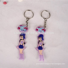 Custom cartoon figure 2d soft pvc rubber keychain