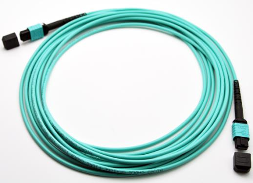 High Density Low Loss MPO-MPO 12 Core OM3 Fiber Patch Cables