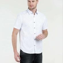 Camisa casual ecológica 100% de los hombres del vestido de la impresión del algodón