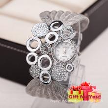 Moda Especial Moda Mulheres Rhinestone Pulseiras Wrap Lady Relógio de pulso Cestbella Special Gifts Watch