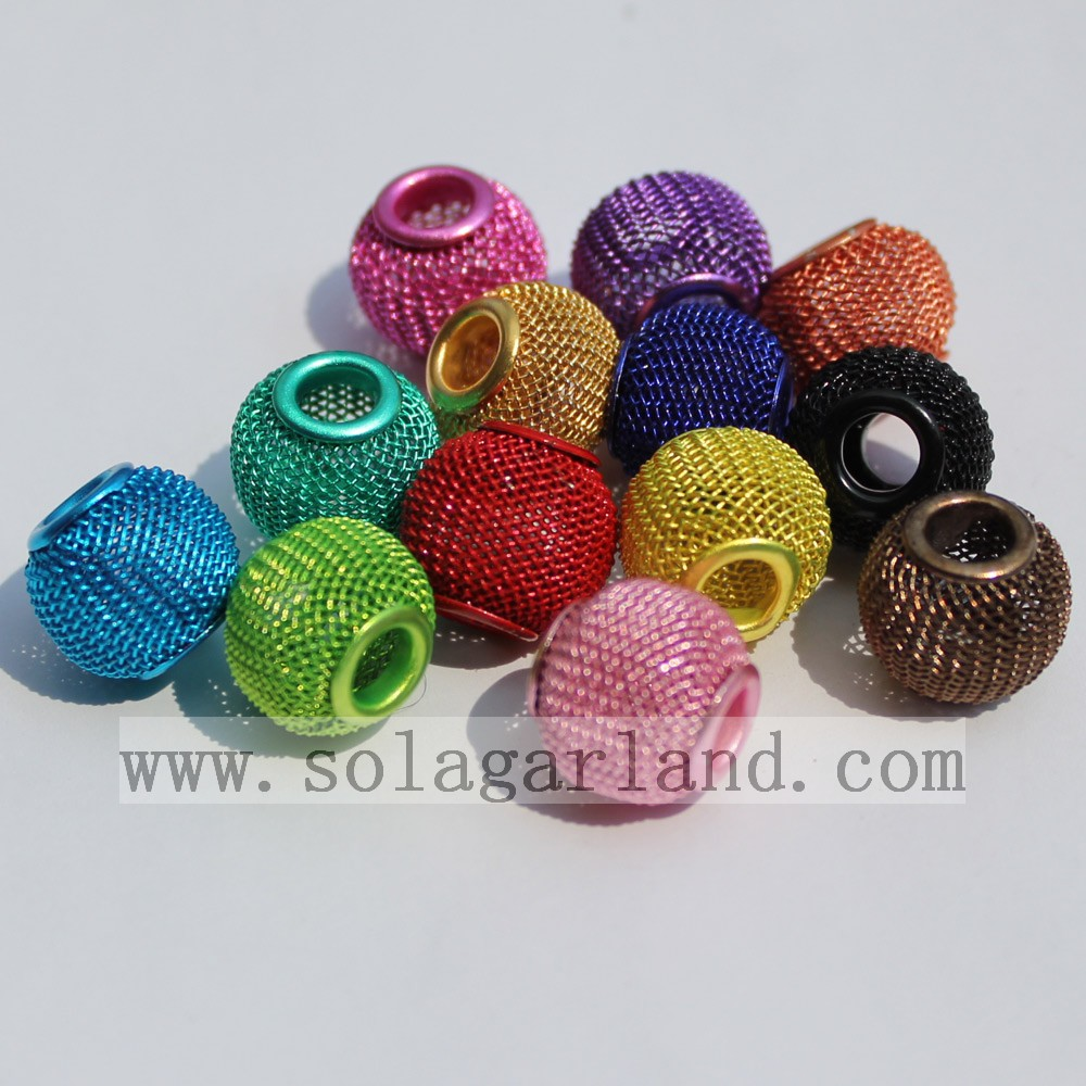 Hollow Big Hole Metal Beads