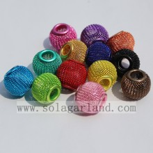 Commercio all'ingrosso metallo stile europeo cava grande foro europeo Metal Beads