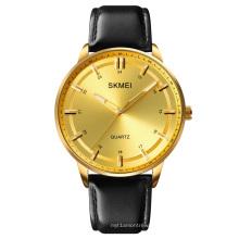 SKMEI 1662 Man Wristwatches Japan Movt casual Leather Quartz Watches