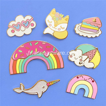 Hot Sale Ice Cream Email Metal Badge 3D