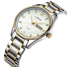 высококачественной нержавеющей стали кварцевые часы с бриллиантами