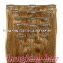 100% reines brasilianisches Haar Top-Qualität keine Mindestbestellmenge billig 100% Echthaar Clip in Haarverlängerung