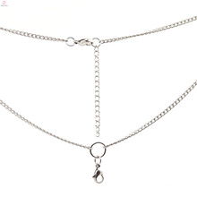 Fashion sunisex gift stainless steel woven necklace with chains,white gold locket necklaces