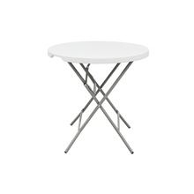 Waterproof HDPE Top Metal Legs Plastic Table