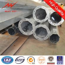 Polo de acero del CCTV lateral de 15kn multi con el brazo cruzado