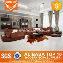 лучшие продажи 7 сиденье низкий диван цена, установленная Дубай кожаный диван мебель