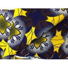 African Super Wax Ankara Imprime un tissu avec un fabricant de coton 100% coton
