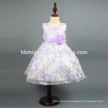New model sequins girl dress Stereo flower baby girl summer dress with sequins for western party wear