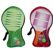 Beach Racket toy hot sale wooden 3 in 1 ludo game toy
