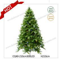 H6FT Plastic Pine Prelit Künstlicher Weihnachtsbaum mit LED-Leuchten