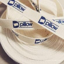 Custom printed cotton  woven garment warming label