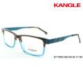 optical frame acetate eyewear spectacle frame combination 2 tone colors metal decoration
