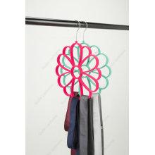 Rose Flower Shape Tie Scarf Belt Velvet Hanger