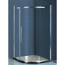 Artículos sanitarios de vidrio templado ducha de esquina (H008)