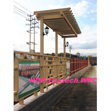 Huasu WPC Planta Eco Friendly Rpl Pergola Material De Cerco