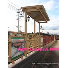 Huasu WPC Plant Eco Friendly Rpl Pergola Esgrima Material
