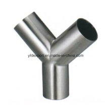 Polished Y Tipo Sanitary Stainless Steel Equal Tees