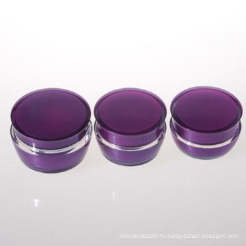 30g Двойная стеновая акриловая баня Пурпурная баня Пластиковая банка