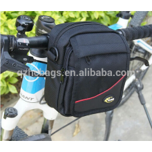 durável verde / azul naval 1680D bicicleta guiador saco