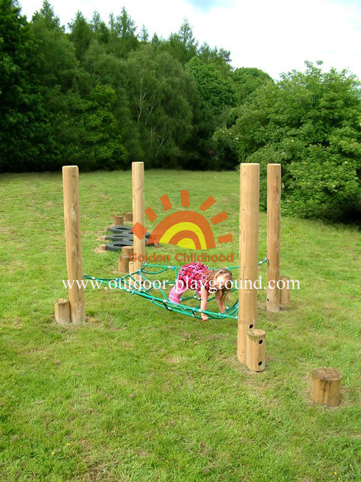 climbing net frame structure for kids