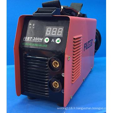 Machine de soudage IGBT MMA avec écran tactile (IGBT-200H)