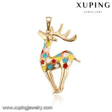 32779-Xuping colgante de ciervo colorido encanto de joyería femenina