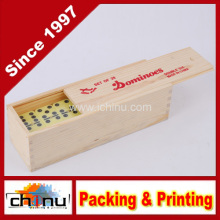 Double Six Dominoes with Wooden Box (431018)