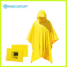 Wasserdichter wiederverwendbarer gelber Plastikregen-Poncho
